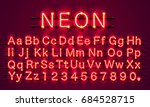 neon city color red font.... | Shutterstock .eps vector #684528715