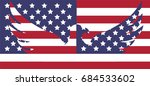 abstract image of the american... | Shutterstock .eps vector #684533602