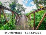 the old hanging bridge | Shutterstock . vector #684534316