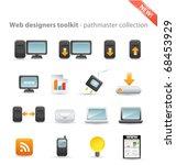web designers toolkit  ... | Shutterstock .eps vector #68453929