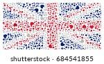 national flag of united kingdom ...   Shutterstock .eps vector #684541855