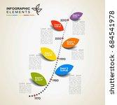 vector timeline infographics ... | Shutterstock .eps vector #684541978