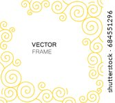 decorative gold frame with copy ... | Shutterstock .eps vector #684551296