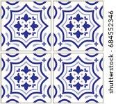 azulejo   portuguese tile... | Shutterstock .eps vector #684552346