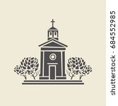 Icon Of A Stylized Bell Tower...