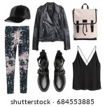 set of stylish clothes ...   Shutterstock . vector #684553885