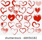 grunge hearts collection