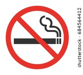 red symbol of no smoking zone.... | Shutterstock .eps vector #684564412