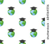 multilingual planet icon in... | Shutterstock .eps vector #684564556