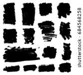 set of grunge painted vector... | Shutterstock .eps vector #684568258