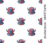 hat of a fan with horns.fans... | Shutterstock .eps vector #684571696