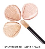 smear foundation for the face.... | Shutterstock . vector #684577636