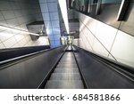 Modern Escalator In Subway