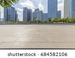 empty floor with modern... | Shutterstock . vector #684582106