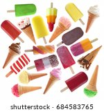 ice popsicles  icecream large... | Shutterstock . vector #684583765