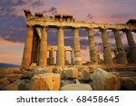 scenic view of the parthenon at ... | Shutterstock . vector #68458645