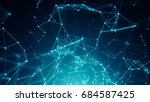 abstract connected dots on...   Shutterstock . vector #684587425