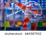 instruments in the laboratory... | Shutterstock . vector #684587932