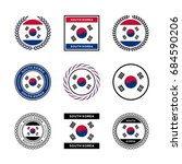 south korea flag | Shutterstock .eps vector #684590206