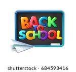 back to school vector isolated... | Shutterstock .eps vector #684593416