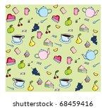 tea party set | Shutterstock .eps vector #68459416
