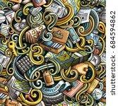 cartoon cute doodles hand drawn ... | Shutterstock .eps vector #684594862