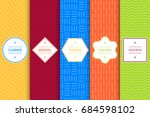 collection of bright colorful... | Shutterstock .eps vector #684598102