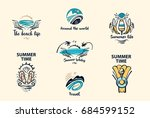 set of style freehand drawing... | Shutterstock . vector #684599152