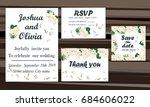 wedding invitation card suite... | Shutterstock .eps vector #684606022