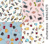 collection of women accessories.... | Shutterstock . vector #684614275