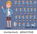 a set of men with who express... | Shutterstock .eps vector #684615568