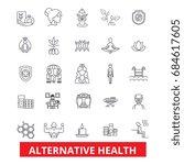 alternative health  healing ... | Shutterstock .eps vector #684617605