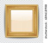 empty gold frame on transparent ... | Shutterstock .eps vector #684618988