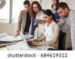 group of business people... | Shutterstock . vector #684619312