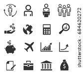 business icons  management... | Shutterstock .eps vector #684620272
