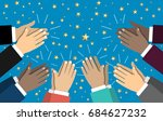 human hands clapping. applaud... | Shutterstock .eps vector #684627232