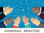 human hands clapping. applaud... | Shutterstock .eps vector #684627232