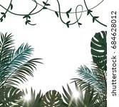 tropical vector poster with... | Shutterstock .eps vector #684628012