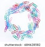 colored paper clip   Shutterstock . vector #684628582