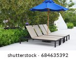 Beach Bed Chair With Blue...