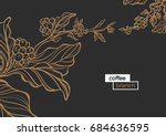template of golden branch of... | Shutterstock .eps vector #684636595