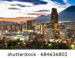 santiago  region metropolitana  ... | Shutterstock . vector #684636802