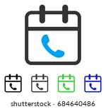 phone support day flat vector... | Shutterstock .eps vector #684640486