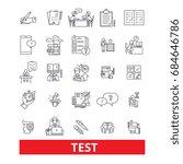 test  exam examination  quiz ... | Shutterstock .eps vector #684646786