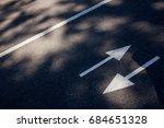 arrows  the road. address road... | Shutterstock . vector #684651328