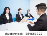 business people with interview... | Shutterstock . vector #684653722
