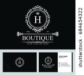luxury logo template in vector... | Shutterstock .eps vector #684654322
