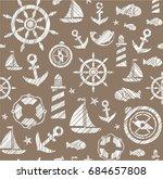 nautical background  seamless ...   Shutterstock .eps vector #684657808