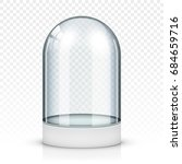 realistic glass showcase  vector | Shutterstock .eps vector #684659716