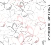 floral seamless pattern. pastel ...   Shutterstock .eps vector #684664678